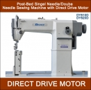 Direct Drive 2 Nadel Säulen-Nähmaschine DY-820D Post Bed mit Rollfuss-Set