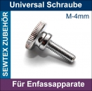 UNIVERSAL SCHRAUBE FÜR APPARATE - SCREW FOR ATTACHMENTS