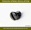 REGULIERSCHRAUBE SPANNUNGSFEDER FÜR JUKI - TENSION SPRING REGULATION PIN FOR JUKI