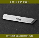 B4118-804-000+ UNTERES MESSER FÜR JUKI MO800 MO804 MO812 MO816 - LOWER KNIFE FOR JUKI