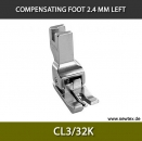 CL3/32K-Compensating foot 2.4mm, left, for fine knitwear