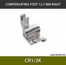 CR1/2K-Compensating foot 12.7mm, right, for fine knitwear