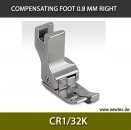 CR1/32K-Compensating foot 0.8mm, right, for fine knitwear