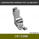 CR1/4K-Compensating foot 6.4mm, right, for fine knitwear