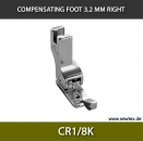 CR1/8K-Compensating foot 3.2mm, right, for fine knitwear