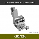 CR5/32K-Compensating foot 4.0mm, right, for fine knitwear