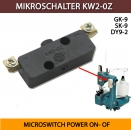MIKROSCHALTER KW2-0Z  für alle Sacknähmaschinen - MICROSWITCH POWER ON- OF ON / OFF PUSH SWITCH